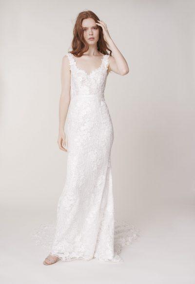 Sleeveless Sweetheart Neckline Floral Sheath Wedding Dress by Alyne by Rita Vinieris
