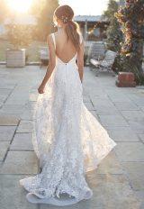 Straplesss V-neckline Floral A-line Wedding Dress by Anna Campbell - Image 2