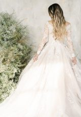 Long Sleeve V-neckline Lace Ball Gown Wedding Dress by Demetrios for Kleinfeld - Image 2