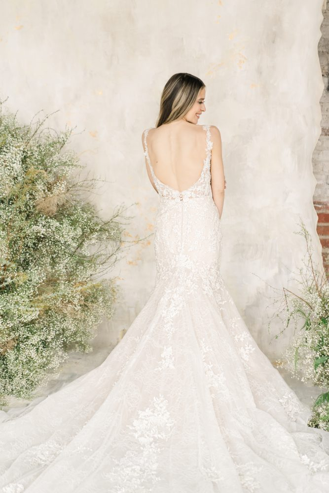 Sleeveless Sweetheart Neckline Lace Fit And Flare Wedding Dress by Demetrios for Kleinfeld - Image 2