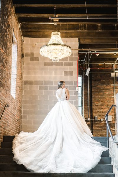 Sleeveless V-neckline Ball Gown Wedding Dress With Beaded Bodice by Demetrios for Kleinfeld - Image 2