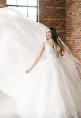 Sleeveless V-neckline Ball Gown Wedding Dress With Beaded Bodice by Demetrios for Kleinfeld - Image 1