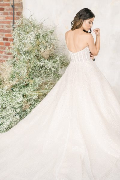 Strapless Sweetheart Neckline Beaded Ball Gown by Demetrios for Kleinfeld - Image 2