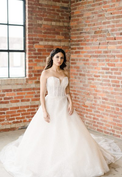 Strapless Sweetheart Neckline Beaded Ball Gown by Demetrios for Kleinfeld