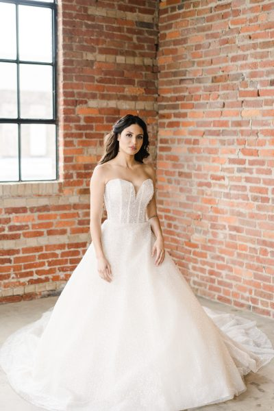 Strapless Sweetheart Neckline Beaded Ball Gown by Demetrios for Kleinfeld - Image 1