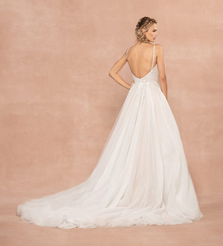 Spaghetti Strap Sweetheart Neckline A-line Wedding Dress With Rhinestones And Corset by Hayley Paige - Image 2