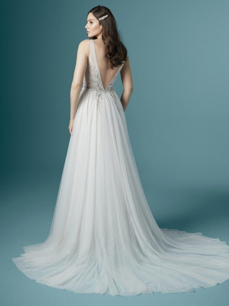 Sleeveless V-neckline A-line Wedding Dress With Beading And Embroidery by Maggie Sottero - Image 2