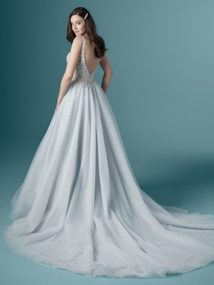 Sleeveless V-neckline Ball Gown Wedding Dress With Beaded Bodice by Maggie Sottero - Image 2