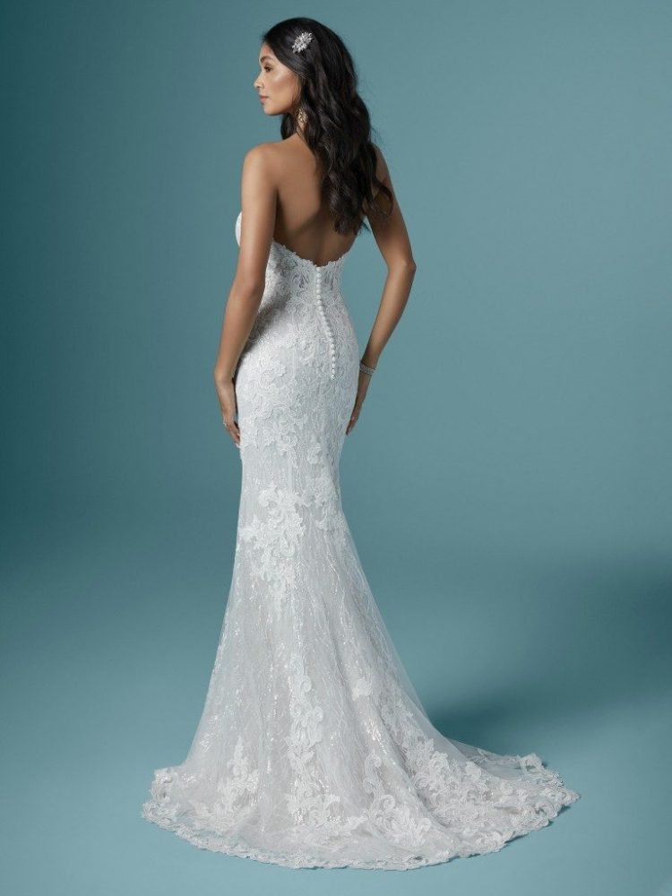 Strapless Sweetheart Neckline Sparkling Mermaid Wedding Dress by Maggie Sottero - Image 2