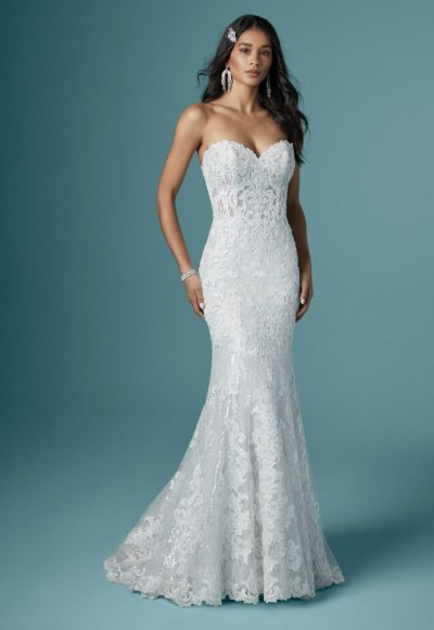 Strapless Sweetheart Neckline Sparkling Mermaid Wedding Dress by Maggie Sottero