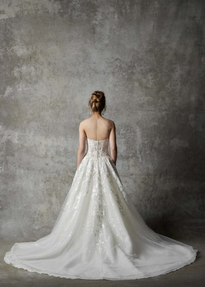 Strapless Sweetheart Neckline Embroidered A-line Wedding Dress by Randy Fenoli - Image 2