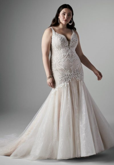Sleeveless V-neckline Lace Mermaid Wedding Dress by Sottero and Midgley