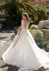 3/4 Sleeve Lace Ball Gown Wedding Dress by Vanilla Sposa - Image 2