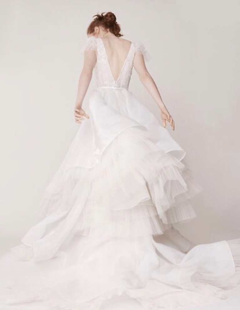 Cap sleeve v-neckline tulle ball gown wedding dress by Alyne by Rita Vinieris - Image 2