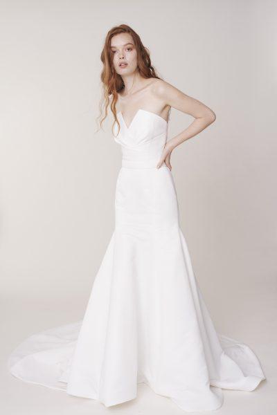 Strapless V-neckline fit and flare wedding dress by Alyne by Rita Vinieris - Image 1