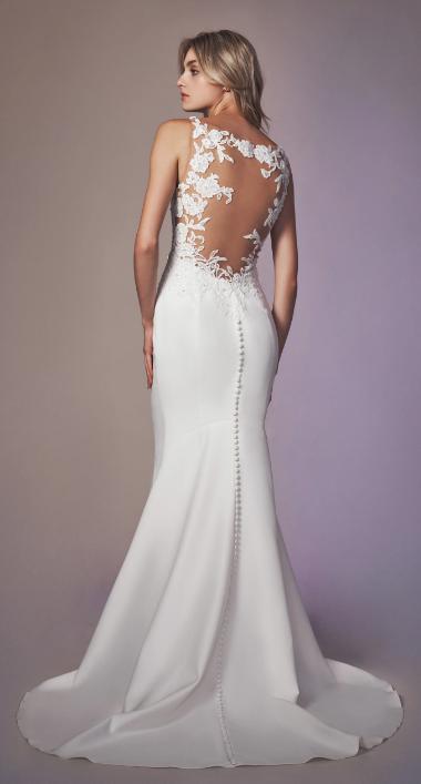 Sleeveless Sweetheart Neckline Sheath Wedding Dress by Anne Barge - Image 2
