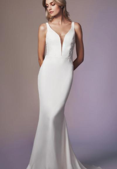 Sleeveless Sweetheart Neckline Sheath Wedding Dress by Anne Barge