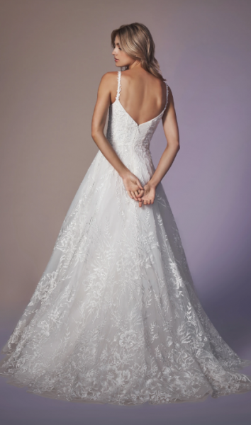 Spaghetti Strap Sweetheart Neckline A-line Wedding Dress by Anne Barge - Image 2