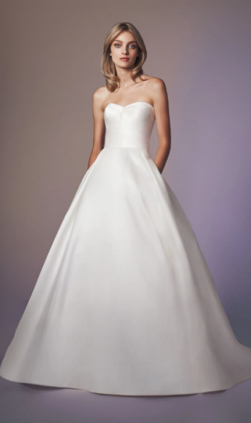 Strapless Sweetheart Neckline Ball Gown Wedding Dress by Anne Barge - Image 1