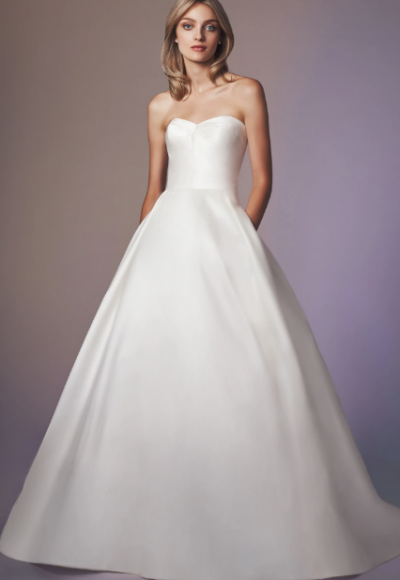 Strapless Sweetheart Neckline Ball Gown Wedding Dress by Anne Barge