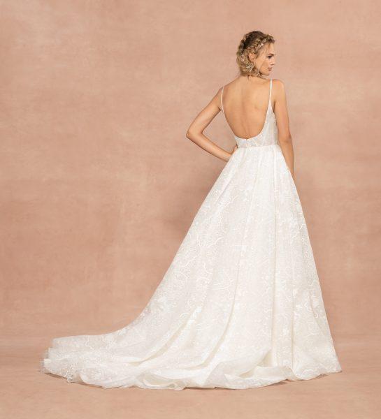 Spaghetti Strap Sweetheart Neckline A-line Wedding Dress by Hayley Paige - Image 2