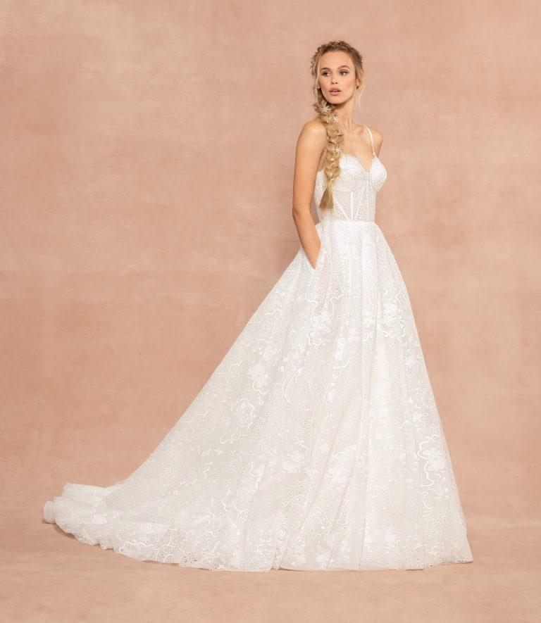 Spaghetti Strap Sweetheart Neckline A-line Wedding Dress by Hayley Paige - Image 1