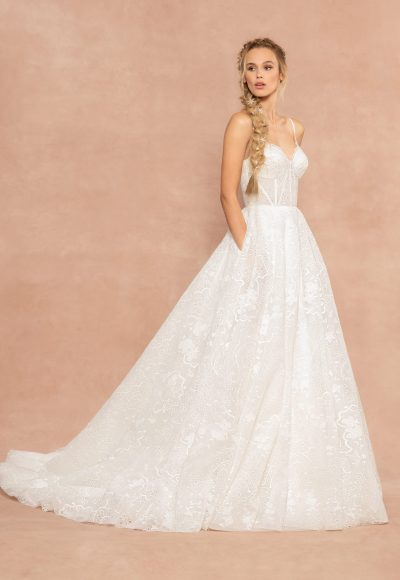 Spaghetti Strap Sweetheart Neckline A-line Wedding Dress by Hayley Paige