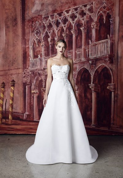 Strapless Ball Gown Wedding Dress by Isabelle Armstrong