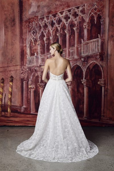 Strapless Sweetheart Neckline Embroidered A-line Wedding Dress by Isabelle Armstrong - Image 2