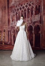 Strapless Sweetheart Neckline Embroidered A-line Wedding Dress by Isabelle Armstrong - Image 1