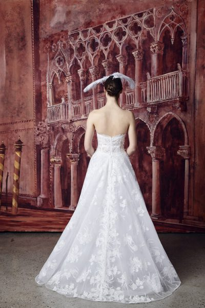Strapless Sweetheart Neckline Lace A-line Wedding Dress by Isabelle Armstrong - Image 2