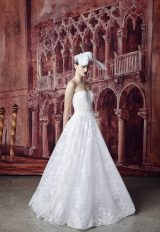 Strapless Sweetheart Neckline Lace A-line Wedding Dress by Isabelle Armstrong - Image 1