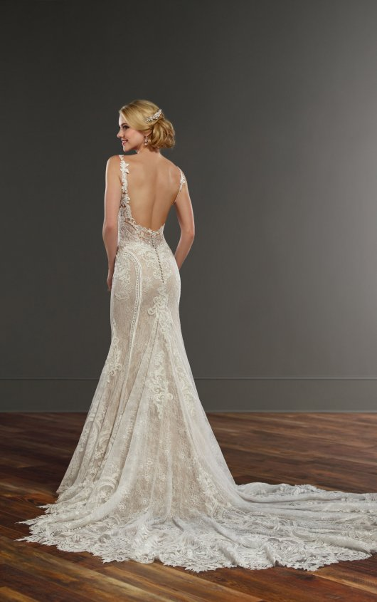 Sleeveless Sweetheart Neckline Lace Fit And Flare Wedding Dress by Martina Liana - Image 2