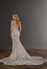 Strapless Sweetheart Neckline Lace Fit And Flare Wedding Dress by Martina Liana - Image 2