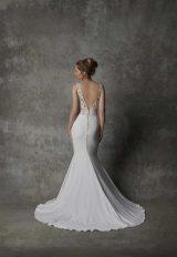 Sleeveless V-neckline Crepe Wedding Dress With Lace Details by Randy Fenoli - Image 2
