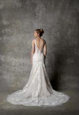 Sleeveless V-neckline Fit And Flare Wedding Dress by Randy Fenoli - Image 2