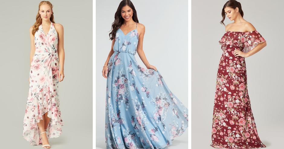 Floral Bridesmaid Dresses For Spring Groundbreaking Kleinfeld Bridal