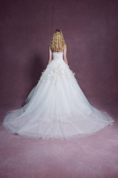 Strapless Sweetheart Neckline 3D Floral Embroidered Ball Gown Wedding Dress by Marchesa - Image 2