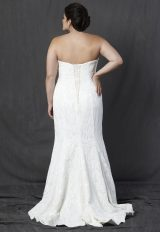 Strapless Sweetheart Neckline All Over Lace Fit And Flare Wedding Dress by Michelle Roth - Image 2
