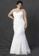 Strapless Sweetheart Neckline All Over Lace Fit And Flare Wedding Dress by Michelle Roth - Image 1