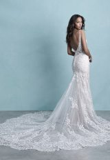 Spaghetti Strap Sweetheart Neckline Lace Fit And Flare Wedding Dress by Allure Bridals - Image 2