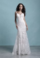 Spaghetti Strap Sweetheart Neckline Lace Fit And Flare Wedding Dress by Allure Bridals - Image 1