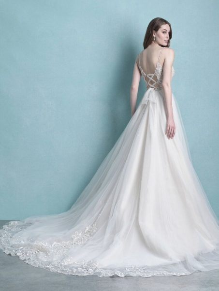 Spaghetti Strap Tulle Wedding Dress by Allure Bridals - Image 2