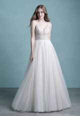 Spaghetti Strap Tulle Wedding Dress by Allure Bridals - Image 1