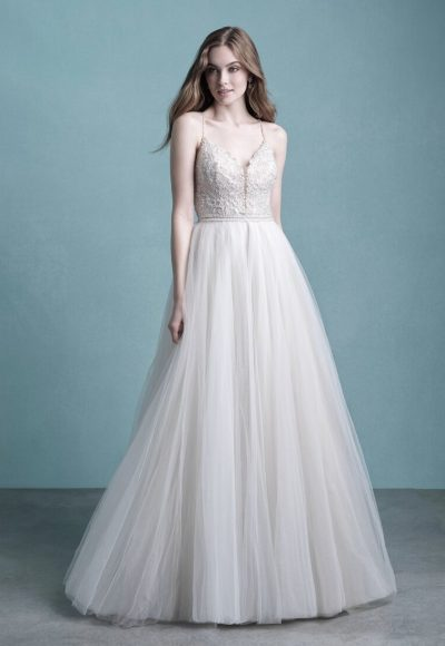 Spaghetti Strap Tulle Wedding Dress by Allure Bridals