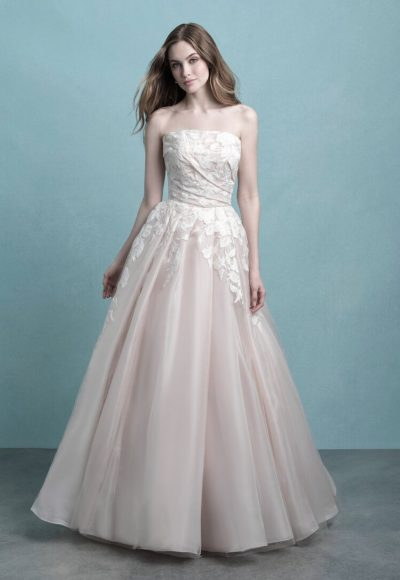 Strapless Ruched Ball Gown Wedding Dress by Allure Bridals