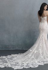 Strapless Sweetheart Neckline Emboidered Beaded Fit And Flare Wedding Dress by Allure Bridals - Image 2