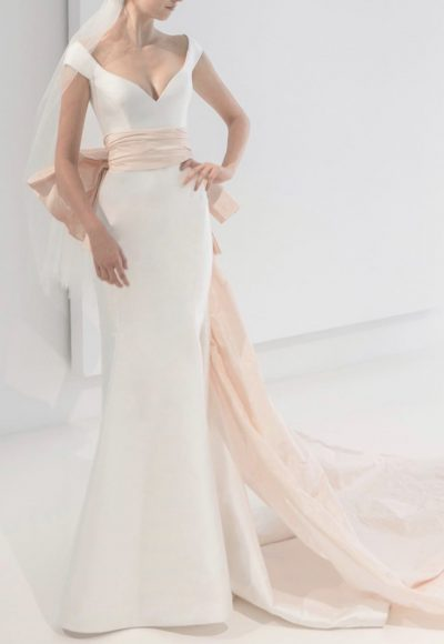 Simple Sleeveless Mermaid Wedding Dress by Reem Acra