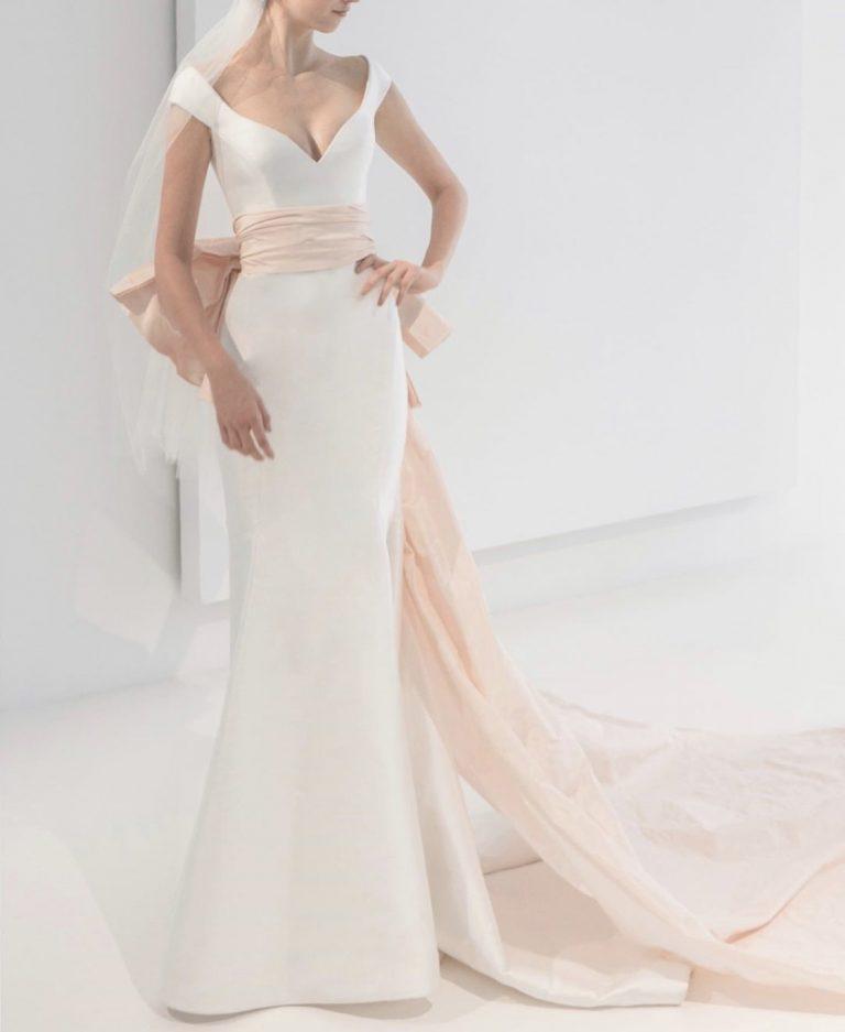 Simple Sleeveless Mermaid Wedding Dress by Reem Acra - Image 1