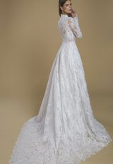 Long Sleeve Lace A-line Wedding Dress. by Love by Pnina Tornai - Image 2
